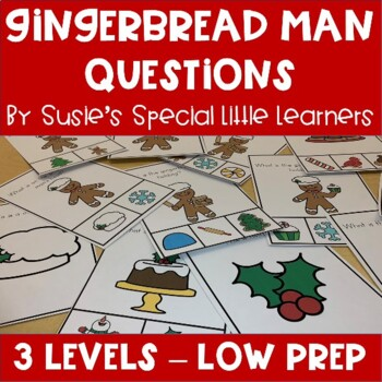 WH QUESTIONS WITH VISUALS FOR AUTISM & SPECIAL ED GINGERBREAD MAN