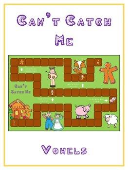GINGERBREAD MAN Vowels- ELA First Grade Folder Game - Word Work Center