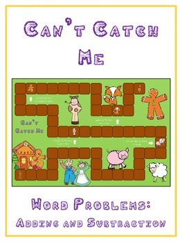 GINGERBREAD MAN - Word Problems Adding & Subtracting - Mat