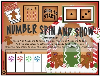 GINGERBREAD Number Subitizing Digital Interactive Game