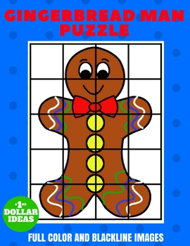 GINGERBREAD MAN PUZZLE | CHRISTMAS CRAFTS FOR KIDS
