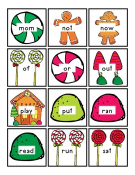 *GINGERBREAD* Read/Write Around the Room (Sight Words/Letters)