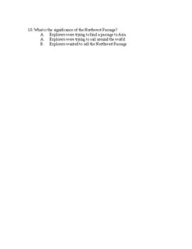 JOHN CABOT HENRY HUDSON QUIZ, 4 PAGES, ONTARIO SOCIAL STUDIES, EARLY EXPLORERS