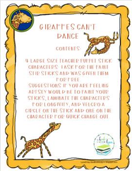 GIRAFFES CAN'T DANCE TEACHER STICKS