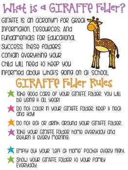 GIRAFFE Communication Folder