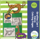 GIRAFFES CAN'T DANCE FREE COLORING PAGES