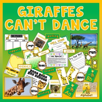 GIRAFFES CAN'T DANCE STORY TEACHING RESOURCES EYFS KS 1-2 ENGLISH LITERACY
