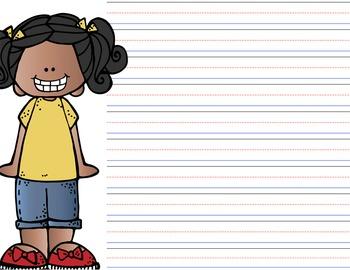 GIRLS - personalized stationery - letter writing - penmanship paper {Melonheadz}