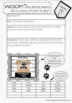 Creative Persuasive Writing *GIVE A DOG A HOME* Ages 7 and up