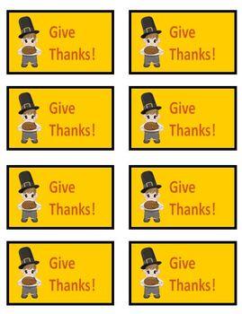 GIVE THANKS! Thanksgiving Phonics Game Activity Long a as -ai, -ay