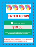 GIVEAWAY on December 22, 2018 of $10.00 worth of products