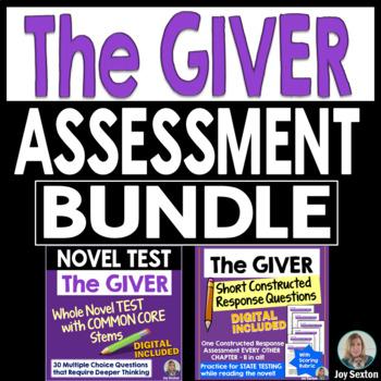 The GIVER Assessment Bundle - CC Whole Novel Test & Short Constructed Response