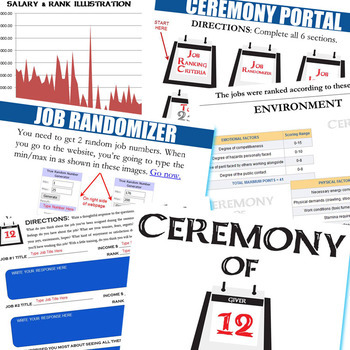 THE GIVER Ceremony of 12 Activity (Created for Digital)