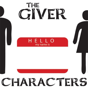 THE GIVER Characters Organizer (by Lois Lowry)