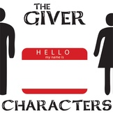 THE GIVER Characters Analyzer (by Lois Lowry)