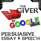 THE GIVER Essay Prompts and Speech w Grading Rubrics (Created for Digital)