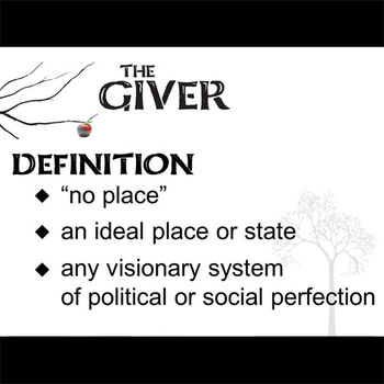 THE GIVER Introduction to Utopias PowerPoint
