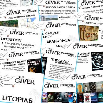 THE GIVER Introduction to Utopias (Created for Digital)