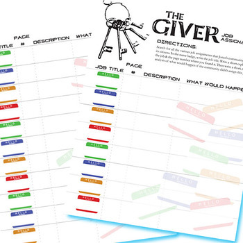 THE GIVER Jobs List Organizer (Created for Digital)