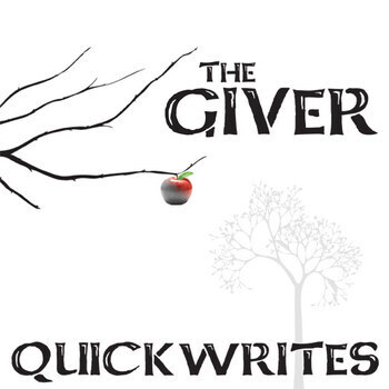 the giver journal quickwrite writing prompts powerpoint tpt the giver journal quickwrite writing prompts powerpoint