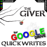 THE GIVER Journal - Quickwrite Writing Prompts (Created for Digital)