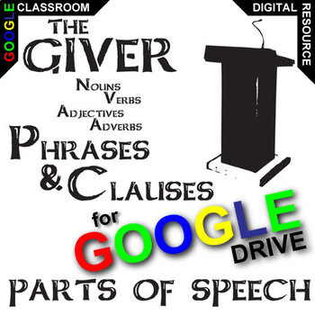 Adjective and adverb clauses teaching resources teachers pay teachers the giver phrases clauses noun verb adjective adverb created for fandeluxe Images