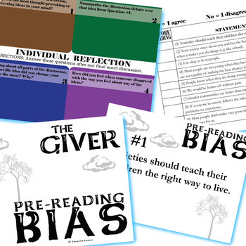 THE GIVER PreReading Bias Activity (Created for Digital)