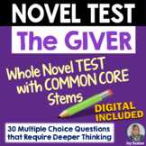 GIVER Test - Whole Novel Test with Common Core Stems