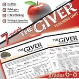 THE GIVER Unit - Novel Study Bundle (by Lois Lowry) - Lite