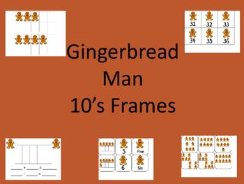 GIngerbread Man 10's Frame