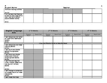 GKIDS Checklist Progress Report and Report Card for Georgia Kindergarten
