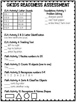 GKIDS Readiness Assessment
