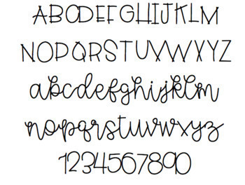 GL First and Foremost: FREE hand lettered font!