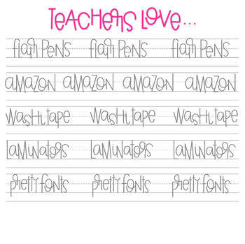 GL Fonts + GL Teachers Who Want to Letter GROWING Bundle!