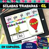 GL Syllables in Spanish - Sílabas Trabadas GL - Boom Cards