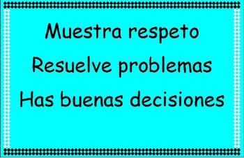 GLAD Classroom rules (Spanish)