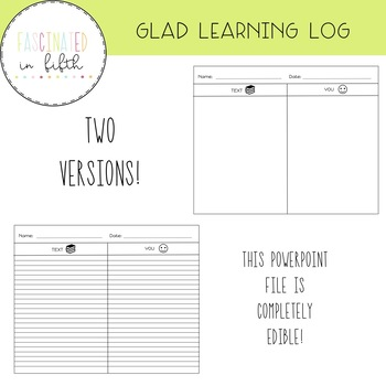 GLAD Learning Log