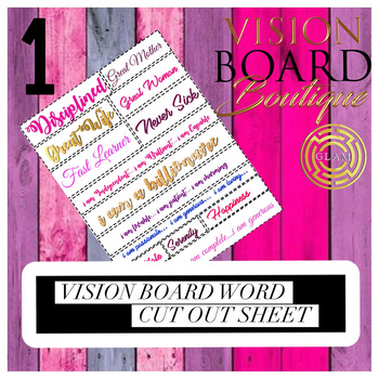 GLAM Money is mines vision board sheet 3