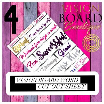 GLAM vision board sheet 1