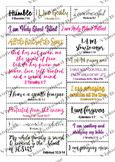GLAMTASTIC life Scriptures vision board sheets