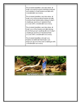 GLE Learning Strategies Summative- Survivor Challenge