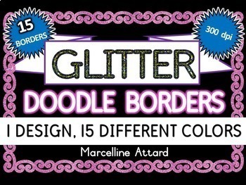 GLITTER BORDERS CLIPART BUNDLE: GLITTER CLIPART FRAMES: GLITTER FRAMES CLIPART