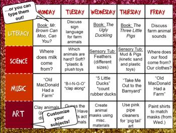 GLITTER Preschool Teacher Binder Starter | EDITABLE Lesson Plans | Multi-color!