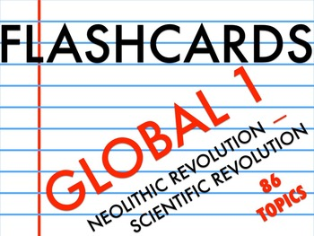 FLASHCARDS GLOBAL 1
