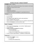 GLOBAL CHEAT SHEET - WW I (PDF) - QUIZ & REGENTS REVIEW
