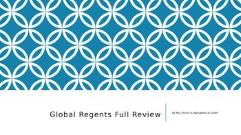 "GLOBAL REGENTS FULL REVIEW TERMS ""A"""