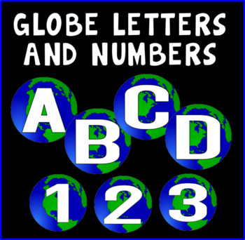 GLOBE LETTERS NUMBERS LETTERING TEACHING RESOURCES DISPLAY GEOGRAPHY