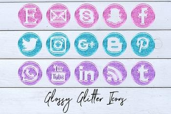 GLOSSY GLITTER, Social Media Icons