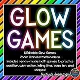 GLOW DAY - Editable Glow Games and Room Transformation Ideas