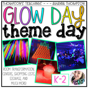 GLOW DAY THEME DAY Room Transformation Kit for grades K-2